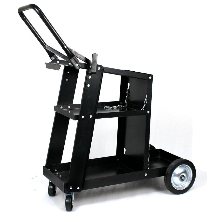 Zeny Welder Welding Cart 3 Tiers Plasma Cutter MIG TIG ARC Universal Storage for Tanks