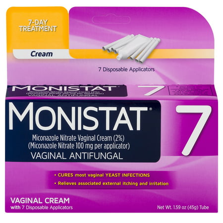 Monistat 7-Day Yeast Infection Treatment, Cream with 7 (Best Over The Counter Yeast Infection Test)