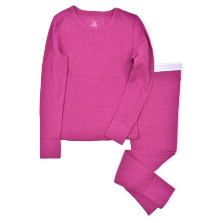 Hanes Girl's X-Temp Thermal Waffle Underwear Set with FreshIQ (Little Girls & Big Girls)