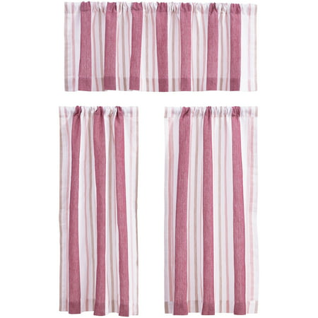 Better Homes & Gardens Yarn-Dyed Dobby Striped Window Valance and Tiers