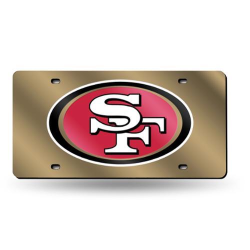 San Francisco 49ers NFL Laser Cut License Plate Tag
