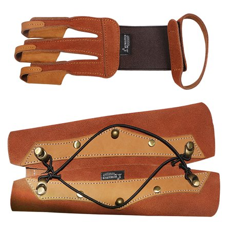 1PCS Archery Protector 3 Finger Tab Glove with Wrist Strap Protect Guard Archery Accessories - image 6 de 7