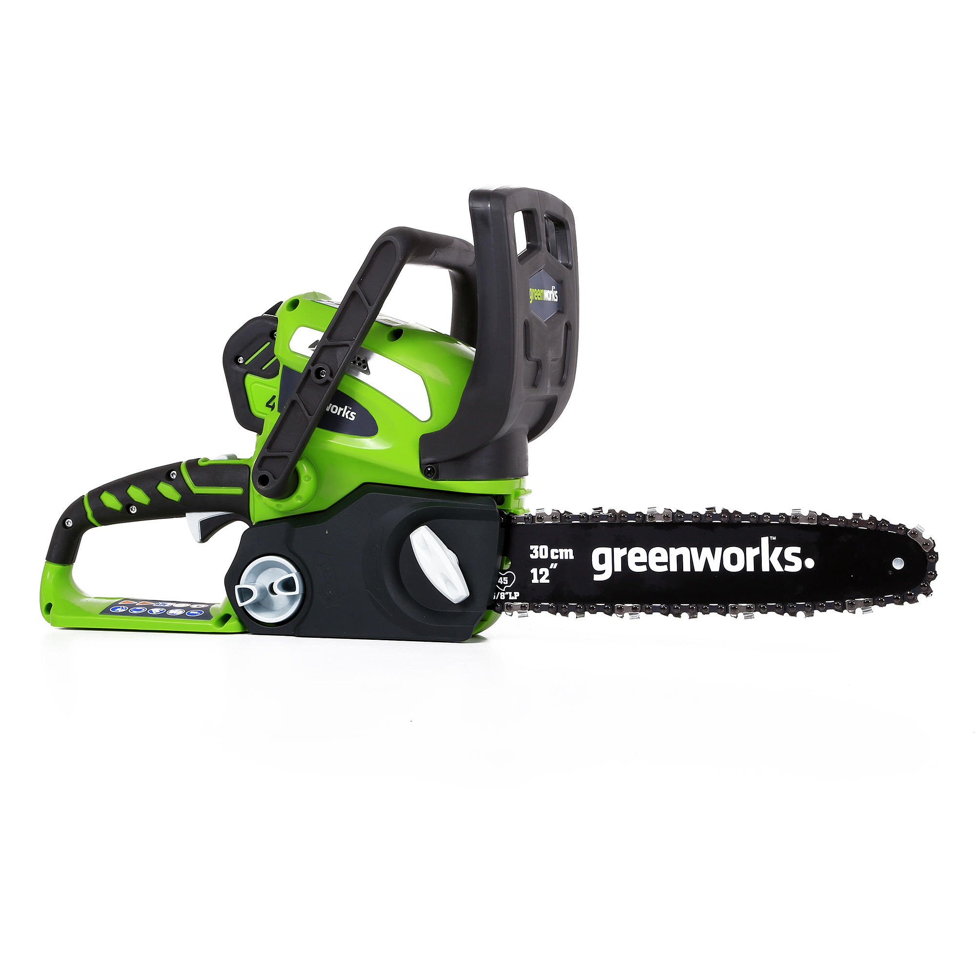 """GreenWorks 20262 40V 12"""" Cordless Chainsaw, Includes 2Ah Battery and Charger"""