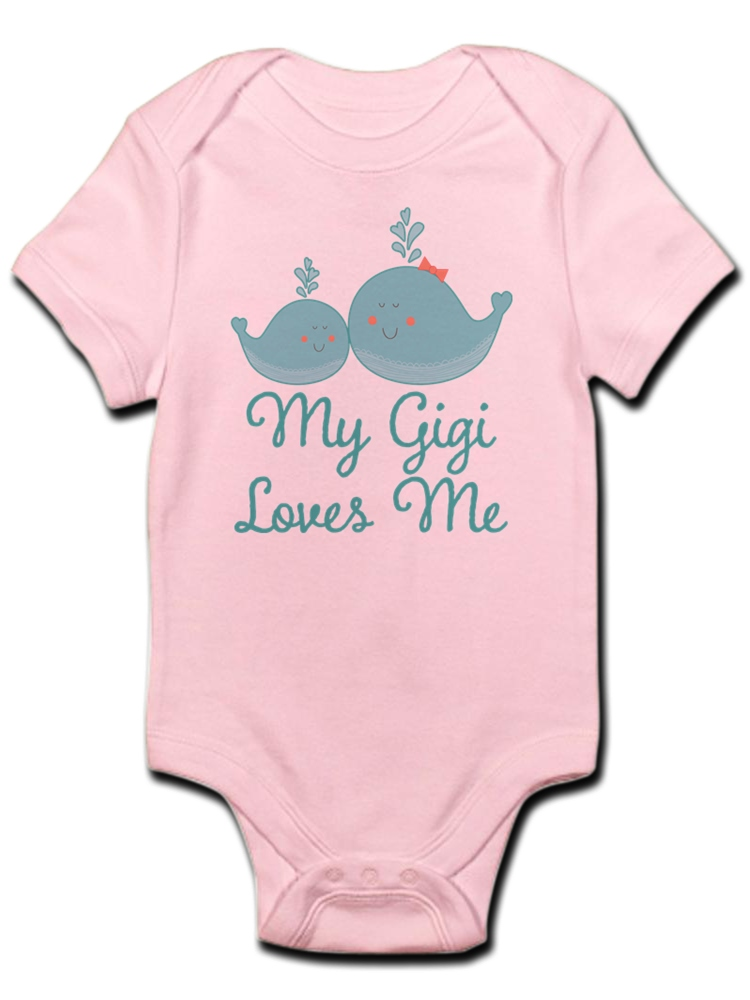CafePress My Gigi Loves Me Cute Long Sleeve Infant Bodysuit Baby Romper