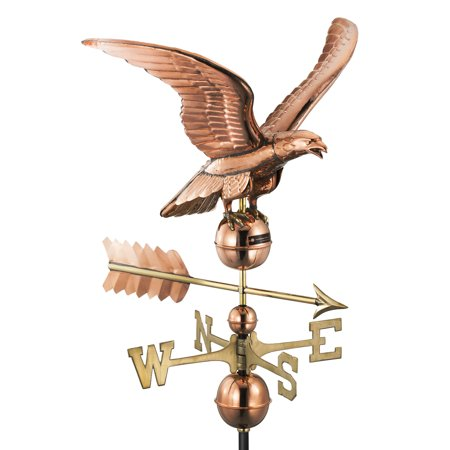 Good Directions Smithsonian Eagle Weathervane, Pure Copper - 23