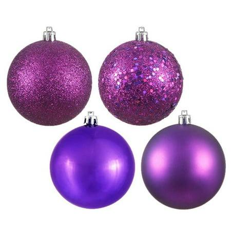 Olive 4 Finish Ball Ornament, 6 in. - Box of 4 - image 1 de 1