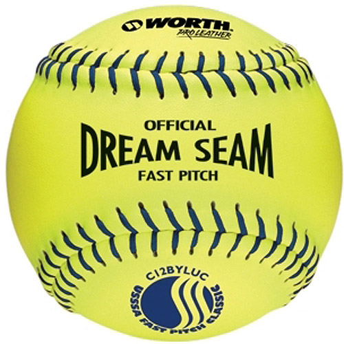 "Worth Pro Leather Official USSSA Dream Seam Fastpitch Softball-11"" - 1 Dozen"