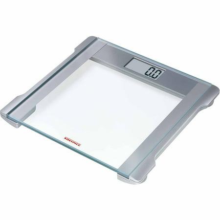 Soehnle MELODY 2.0 Precision Digital Bathroom Scale, 330 lb Capacity, Safety Glass/Silver