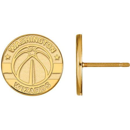 Logoart Nba Washington Wizards 14Kt Yellow Gold Stud Earrings