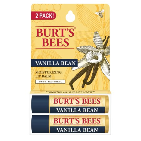 Burt's Bees 100% Natural Moisturizing Lip Balm, Vanilla Bean - -2 (The Best Natural Lip Balm)