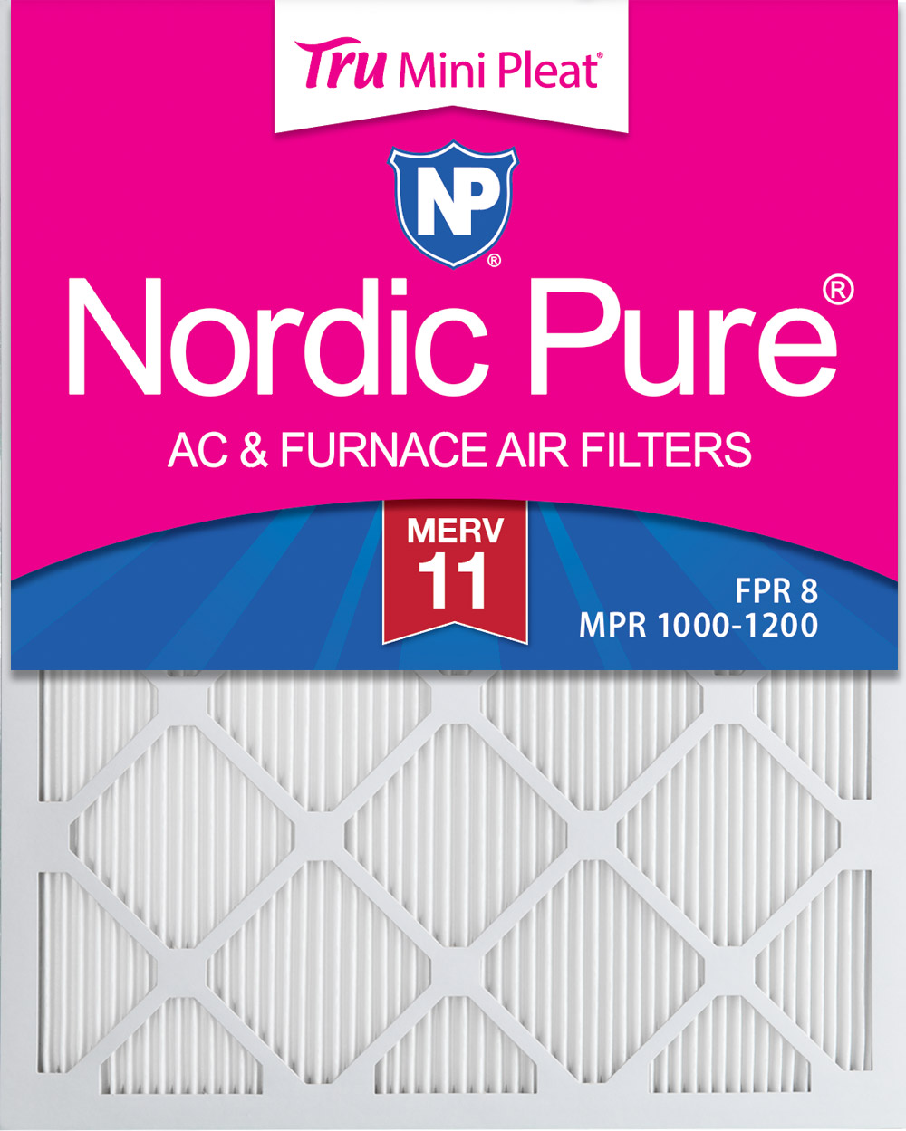 Nordic Pure 14x30x1 MERV 11 Pleated AC Furnace Air Filters 3 Pack
