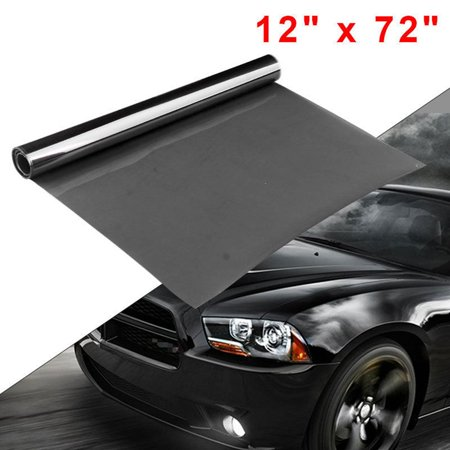 "Medium Black Car Truck Smoke Headlight Taillight Vinyl Tint Film Sheet -12""x72"""