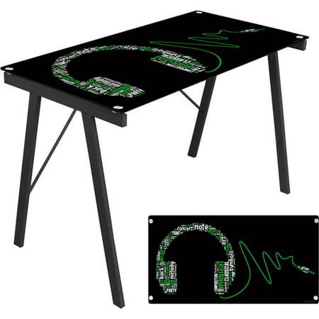 Lumisource headphone graphic top exponent desk in black walmart lumisource headphone graphic top exponent desk in black gumiabroncs Images