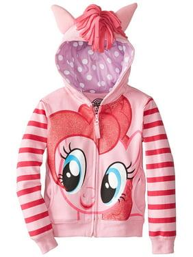 My Little Pony Pinkie Pie Striped Sleeves Girls Pink Hoodie Sweatshirt