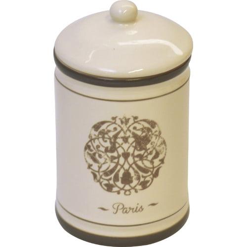 Evideco Paris Romance Bath Cotton Jar