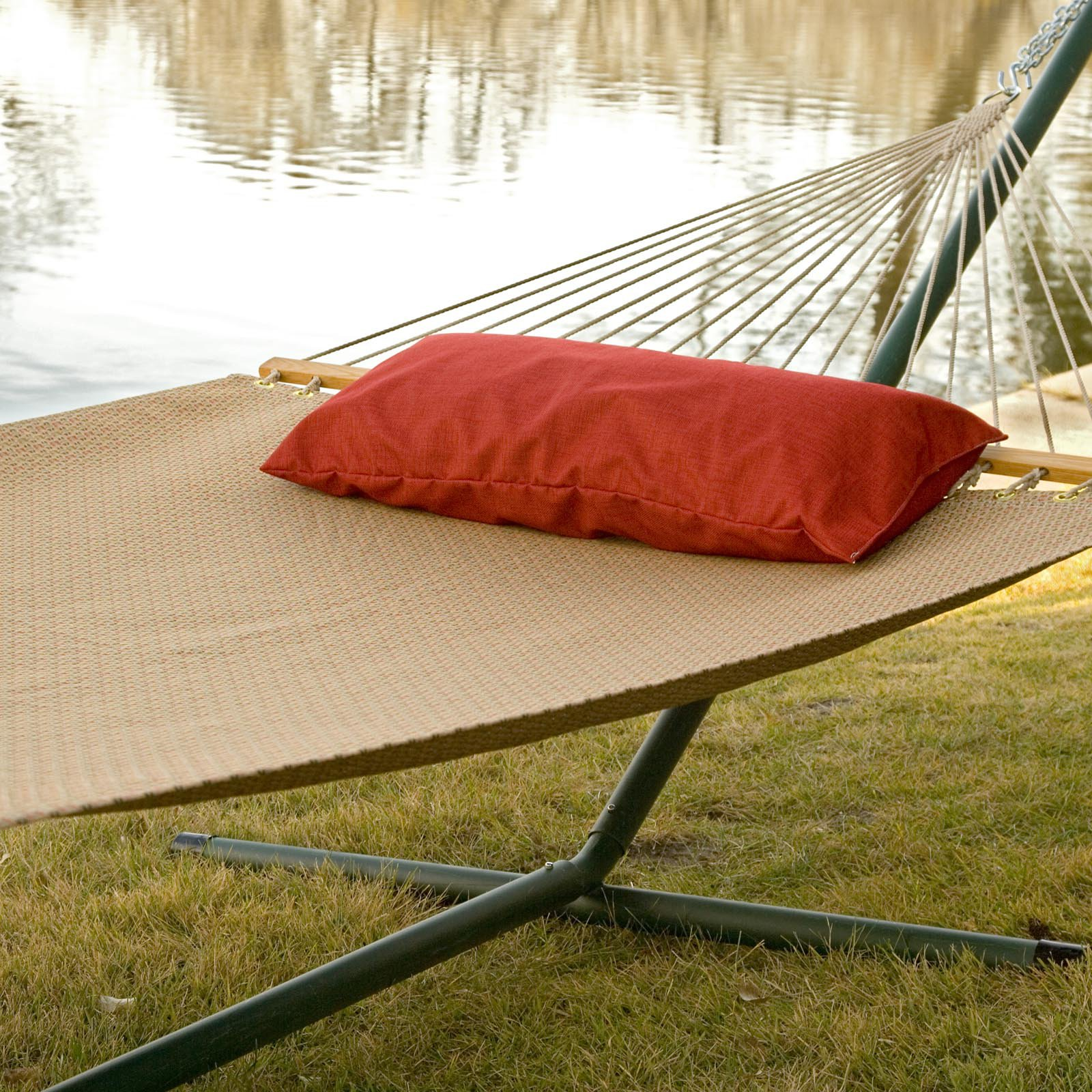 Twin Oaks Poolside Sunbrella Quick Dry Double Hammock with Stand