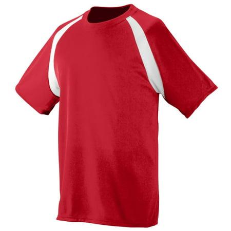 Augusta Sportswear 219 Sports Uniform Jersey Polyester Wicking Colorblock Boys Orange Striped Soccer Jersey