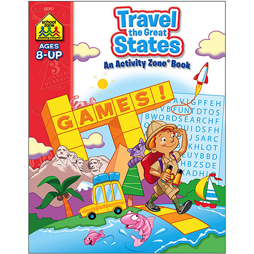 Workbooks Travel the Great States, Ages 8 and Up