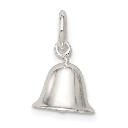 Sterling Silver Moveable Bell Charm