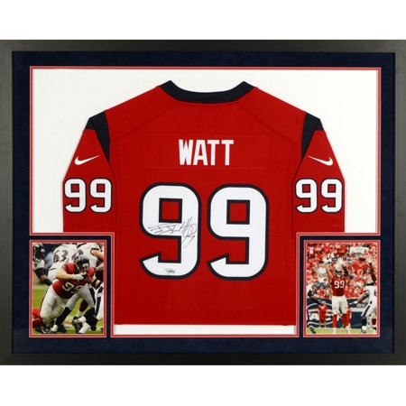 J.J. Watt Houston Texans SM Deluxe Framed Autographed Limited Red Jersey - Fanatics Authentic