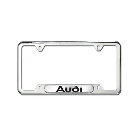 Genuine OE Audi License Plate Frame With Audi Logo - Polished