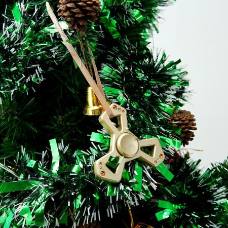 Matashi Crystal Christmas Tree Triangle Spinner with Crystal Shaped Ornament ()