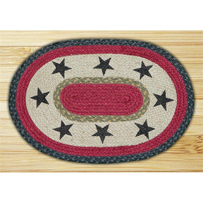 Earth Rugs 48-238S Stars Oval Placemat