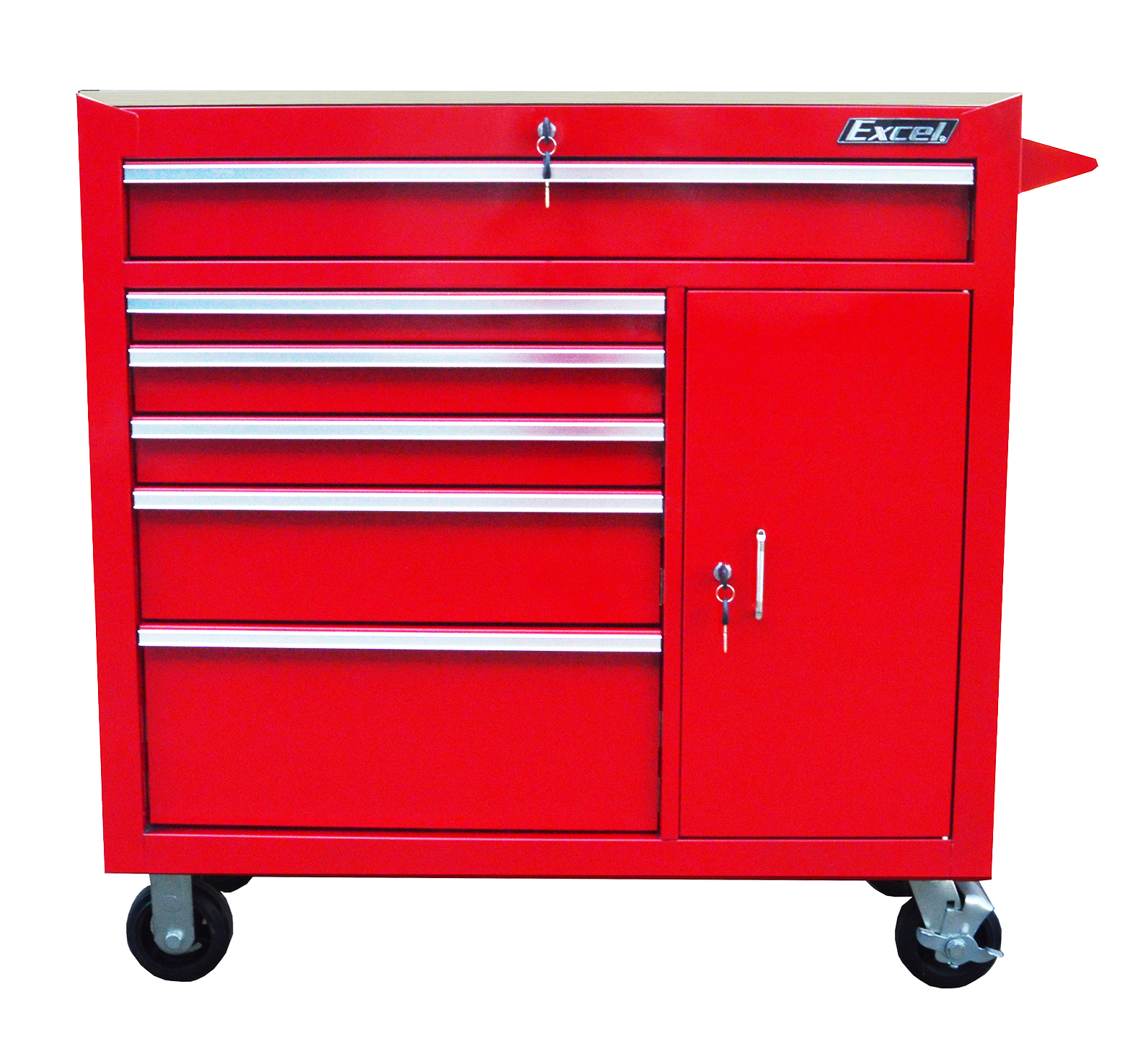 Excel 6 Drawer Workstation Cart