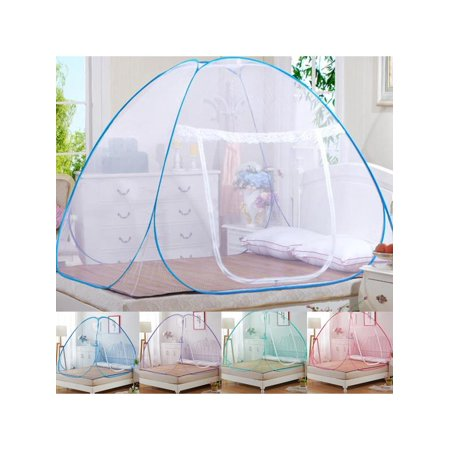 Hot Sale Pop-Up Mosquito Net Tent for Beds ,Anti Mosquito Bites folding design with net bottom for babys adults trip (150cm180cm200cm)