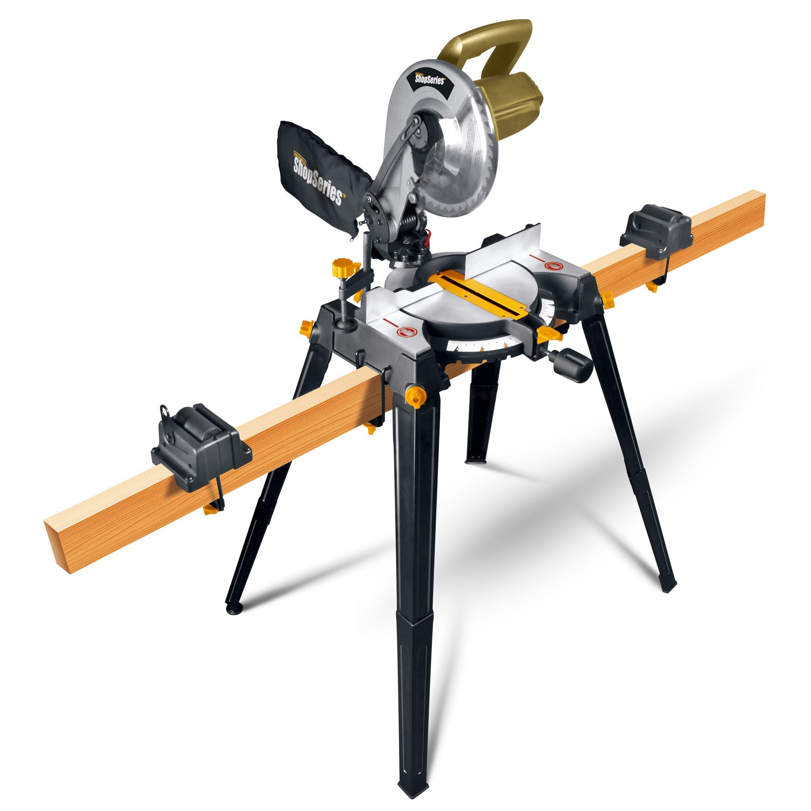 Rockwell Shop RK7136.1 Compound Corded Miter Saw with Leg Stands, 120 VAC, 14 A, 5200 rpm by Overstock