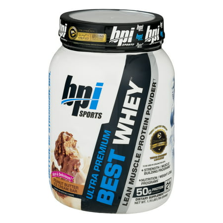 BPI Sports Best Whey Ultra Premium Protein Powder, Salted Caramel, 2.04