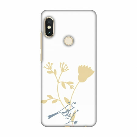 Birdie Note (Xiaomi Redmi Note 5 Pro Case - The doodle birdie, Hard Plastic Back Cover, Slim Profile Cute Printed Designer Snap on Case with Screen Cleaning Kit)