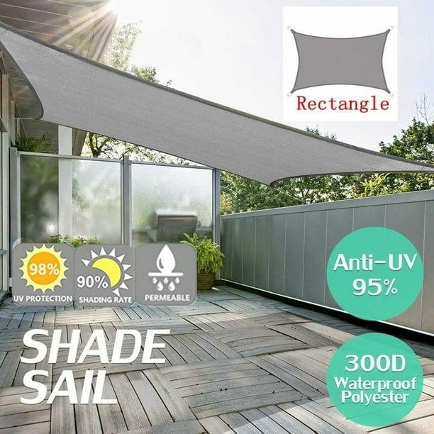 Rectangle Sun Sail Canopy 8 X 10 Heavy Duty Shade Outdoor Patio Cover Uv Block Sunshade Fabric Awning Shelter For Patio Outdoor Garden Light Beige 2 5x3 Meter Walmart Com Walmart Com