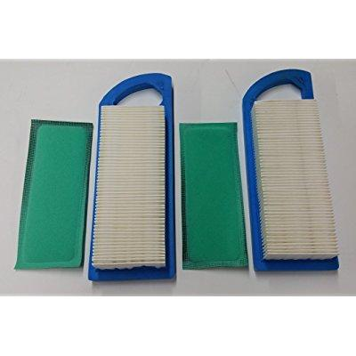 2 air filters plus 2 pre-filters, air filters for briggs & stratton 795115 797008 794472 697153 697014 697634 698083 695547 697776, pre-filter replaces 697015. same as john deere gy20573, m147489, m14