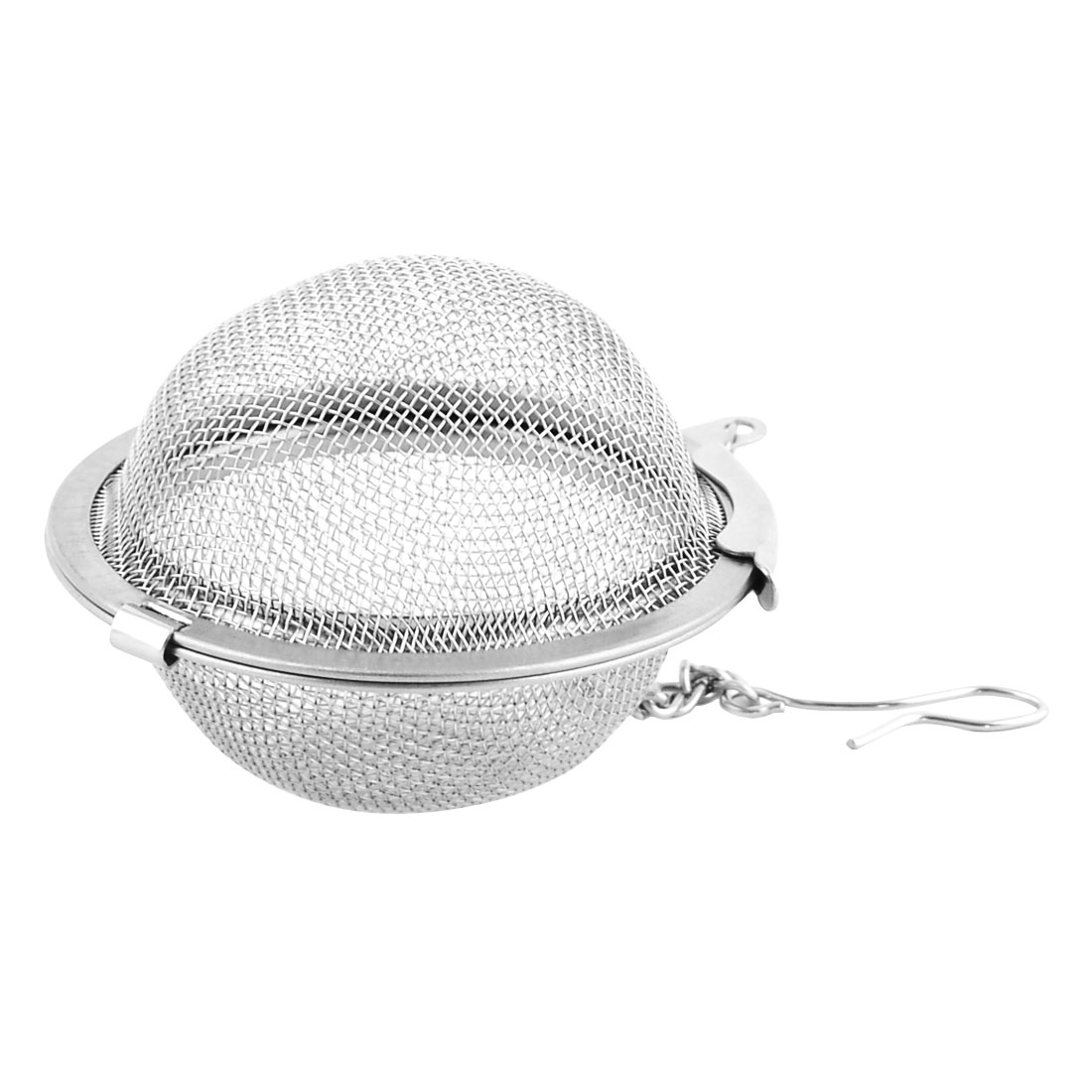 Unique BargainsHousehold Mesh Design Tea Leaf Stainer Filter Ball Silver Tone 5.3cm Dia 2 Pcs