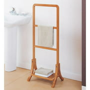 Neu Home Lohas Collection Towel Rack, Carbonized Bamboo