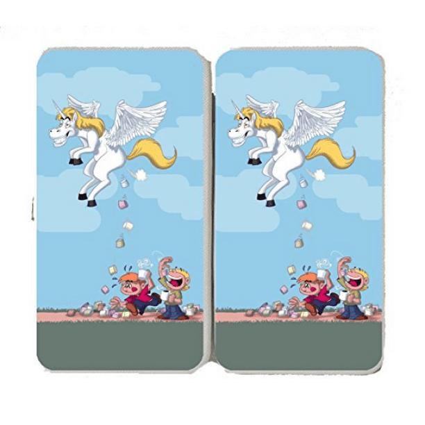 Hat Shark Pegacorn Marshmallows Unicorn Cartoon Pooping Candy Taiga Hinge Wallet Clutch Walmart Com Walmart Com