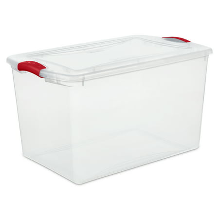 Sterilite 66 Qt./62 L Latch Box, Infra Red