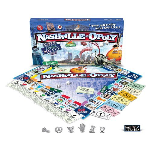 Late for the Sky NASH Nashville-Opoly Board Game