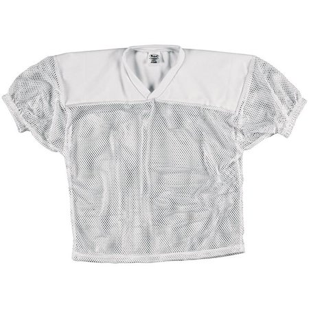 - Intensity N3210Y100SML Youth Mesh Practice Football Jersey, White - Small
