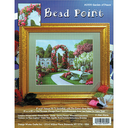 "Garden Of Peace Bead Point Kit, 8"" x 10"" Printed"