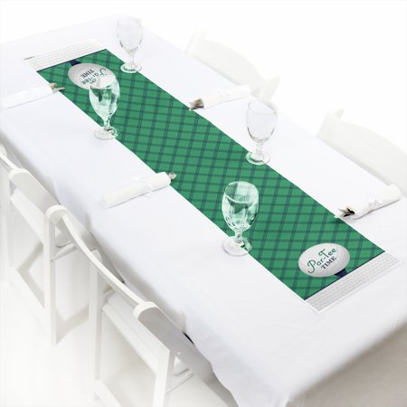 Par-Tee Time - Golf - Petite Birthday or Retirement Party Table Runner - 12