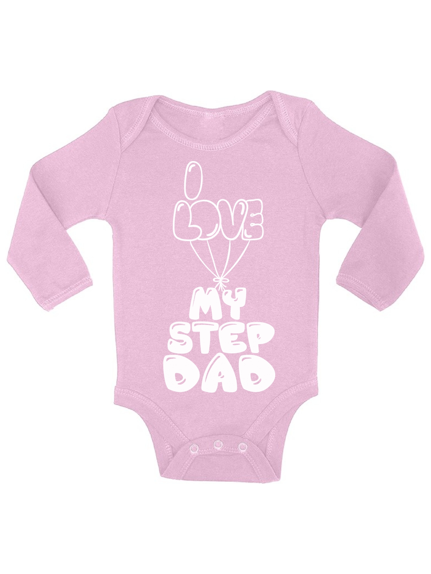 I Love My Stepdad Girls Gift New Personalised Baby Vests Bodysuits for Boys
