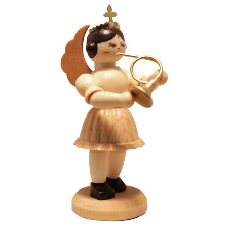 French Horn Player Concert Angel German Wood Figurine Handcrafted in Germany ()