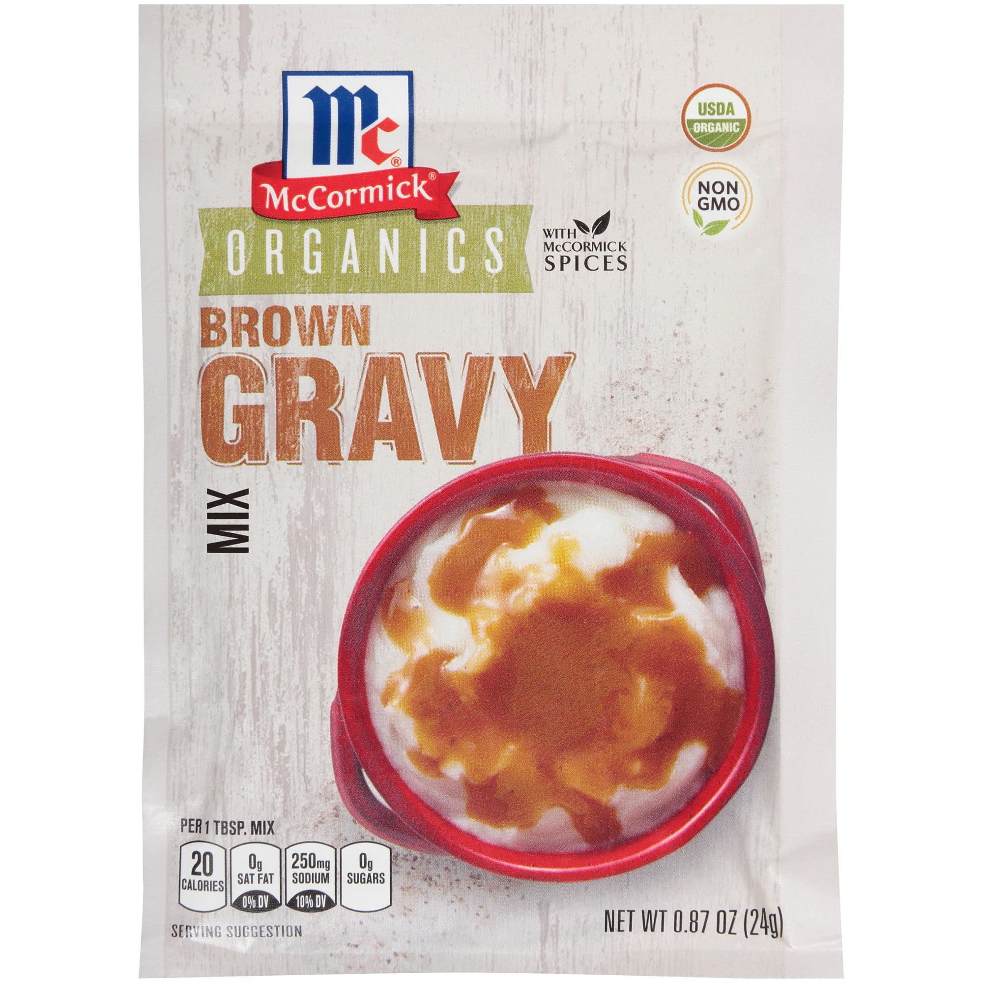 (4 Pack) McCormick Organic Brown Gravy Mix, 0.87 oz