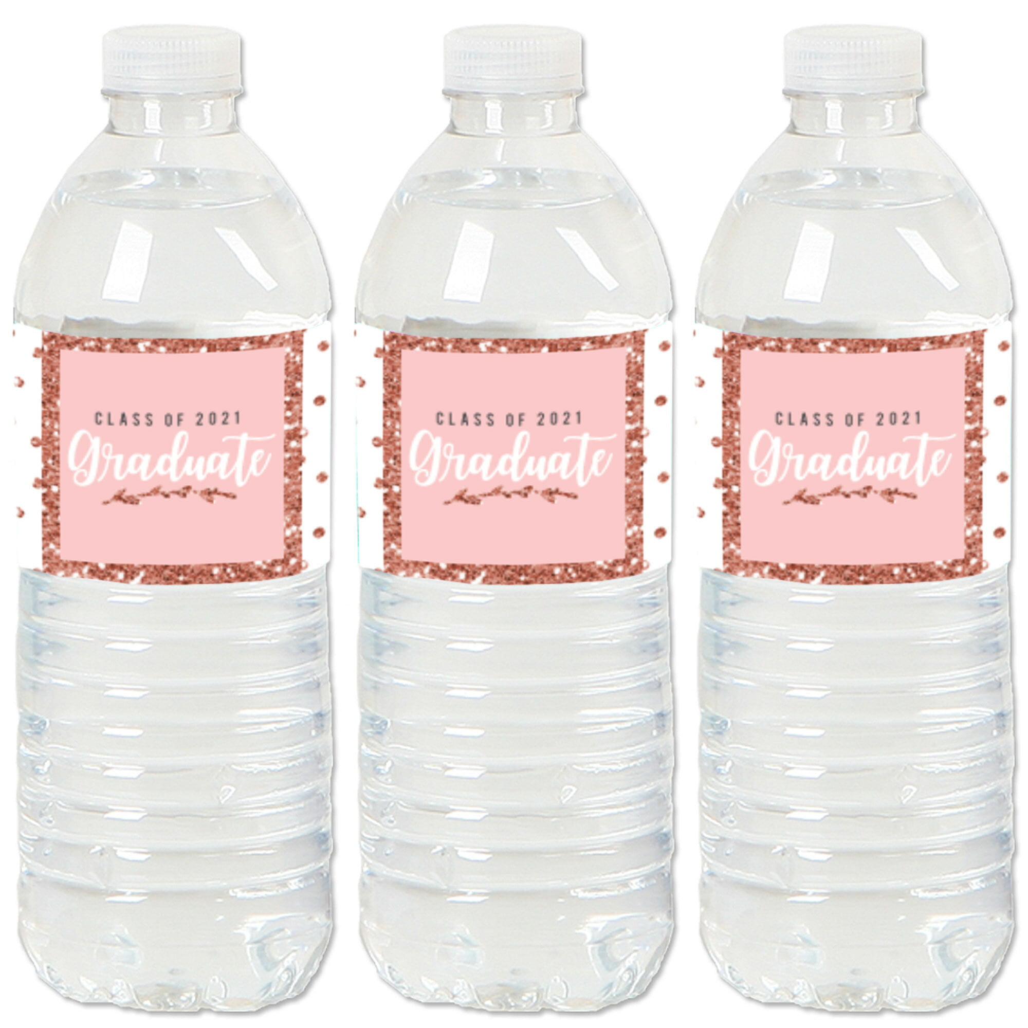 Set of 20 Girls Makeup Party Water Bottle Sticker Labels Big Dot of Happiness Spa Day