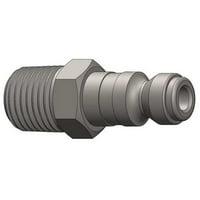 DIXON J2M2 Male to Automotive Plug, (M)NPT, 1/4, Steel