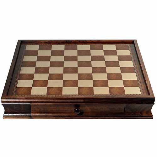 "Deluxe Chess Board with Storage Drawers, Camphor Wood, 19"" by Generic"