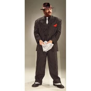 Adult XL Chicago Gangster Halloween Costume - 20s Gangster Halloween Costume