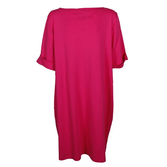 60ed43ce733 Karen Scott - Karen Scott Plus Size Pink Elbow-Sleeve Boat Neck T ...